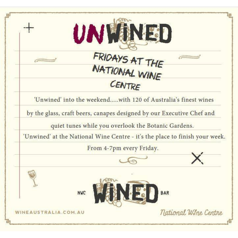 UnWined on Fridays at the National Wine Centre