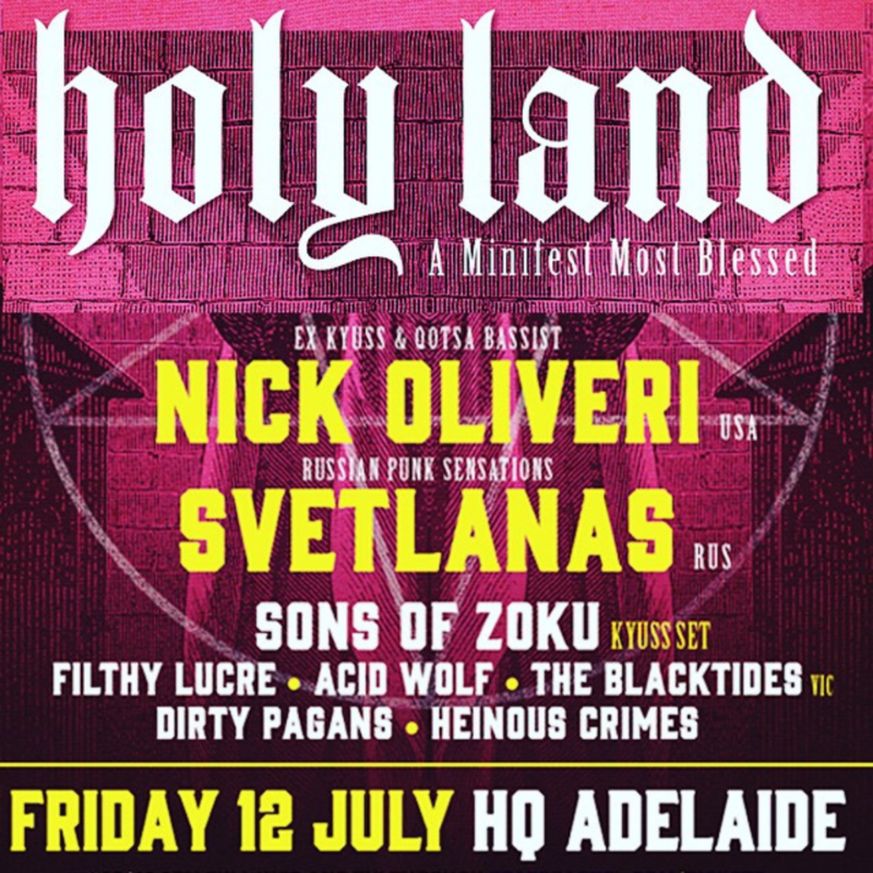 HOLY LAND feat. Nick Oliveri (Queens of the StoneAge/Kyuss) and Svetlanas